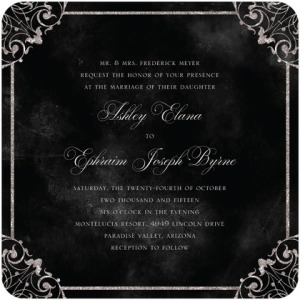 Elegant Vows Black