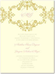 Lavish Damask by Wedding Paper Divas